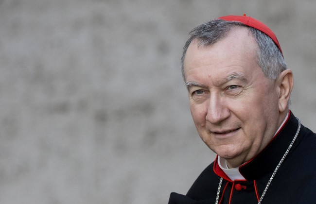 Vatican Secretary of State, Cardinal Pietro Parolin, arrives to Nervi Hall to attend the Extraordinary Synod on the Family in the Synod Hall. Vatican City, 8 October 2014. ANSA/CLAUDIO PERI